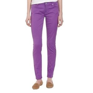 7 for all Mankind Gwenevere Purple Skinny Jeans 29